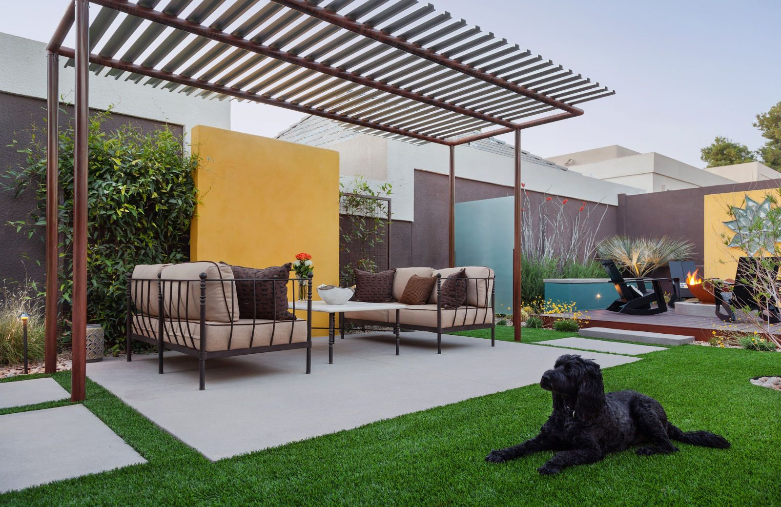 15 Beautiful Concrete Patio Ideas And Designs throughout Backyard Concrete Slab Ideas