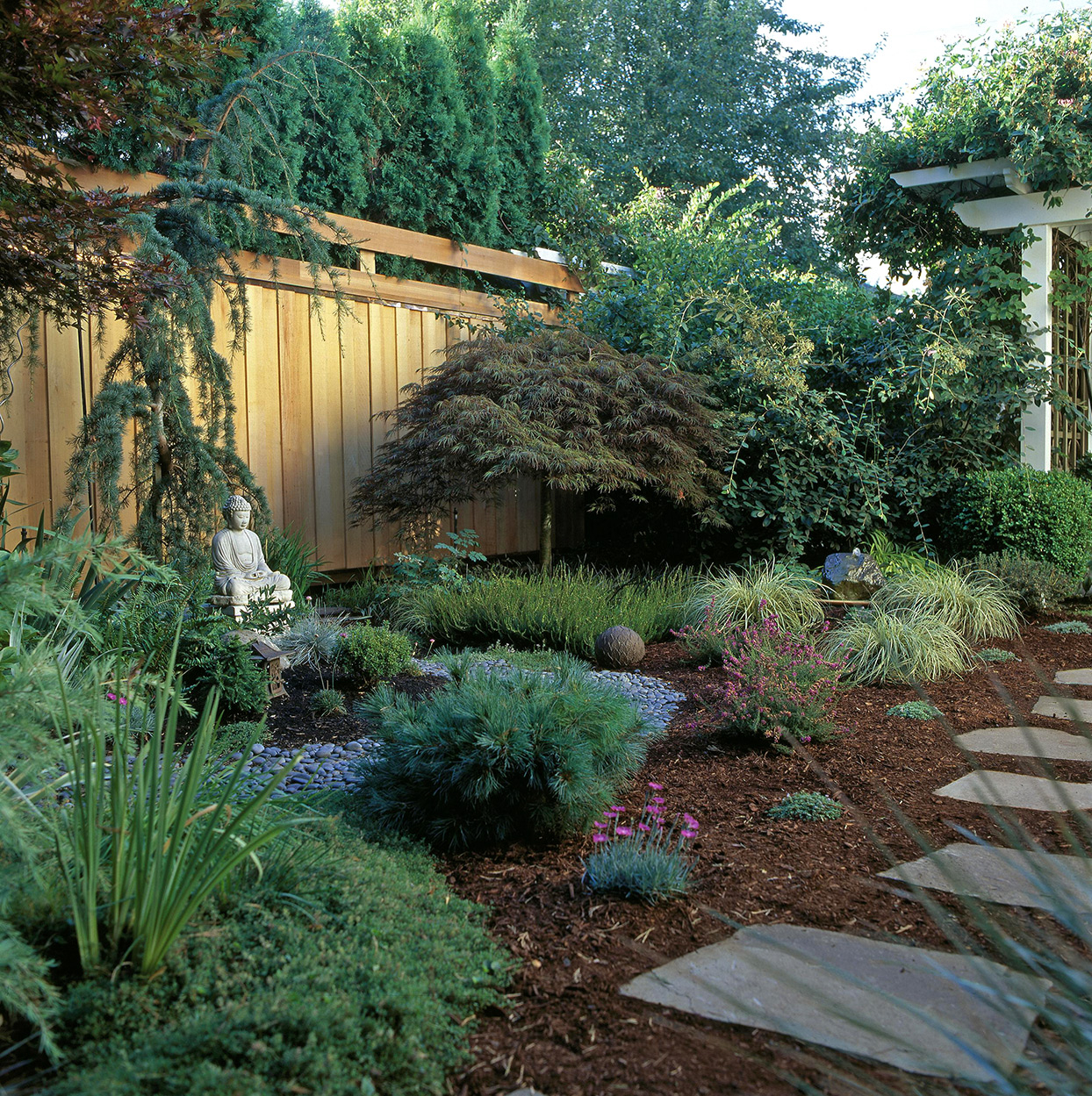 16 Simple Solutions For Small Space Landscapes pertaining to 11 Clever Tricks of How to Build Backyard Corner Landscaping Ideas