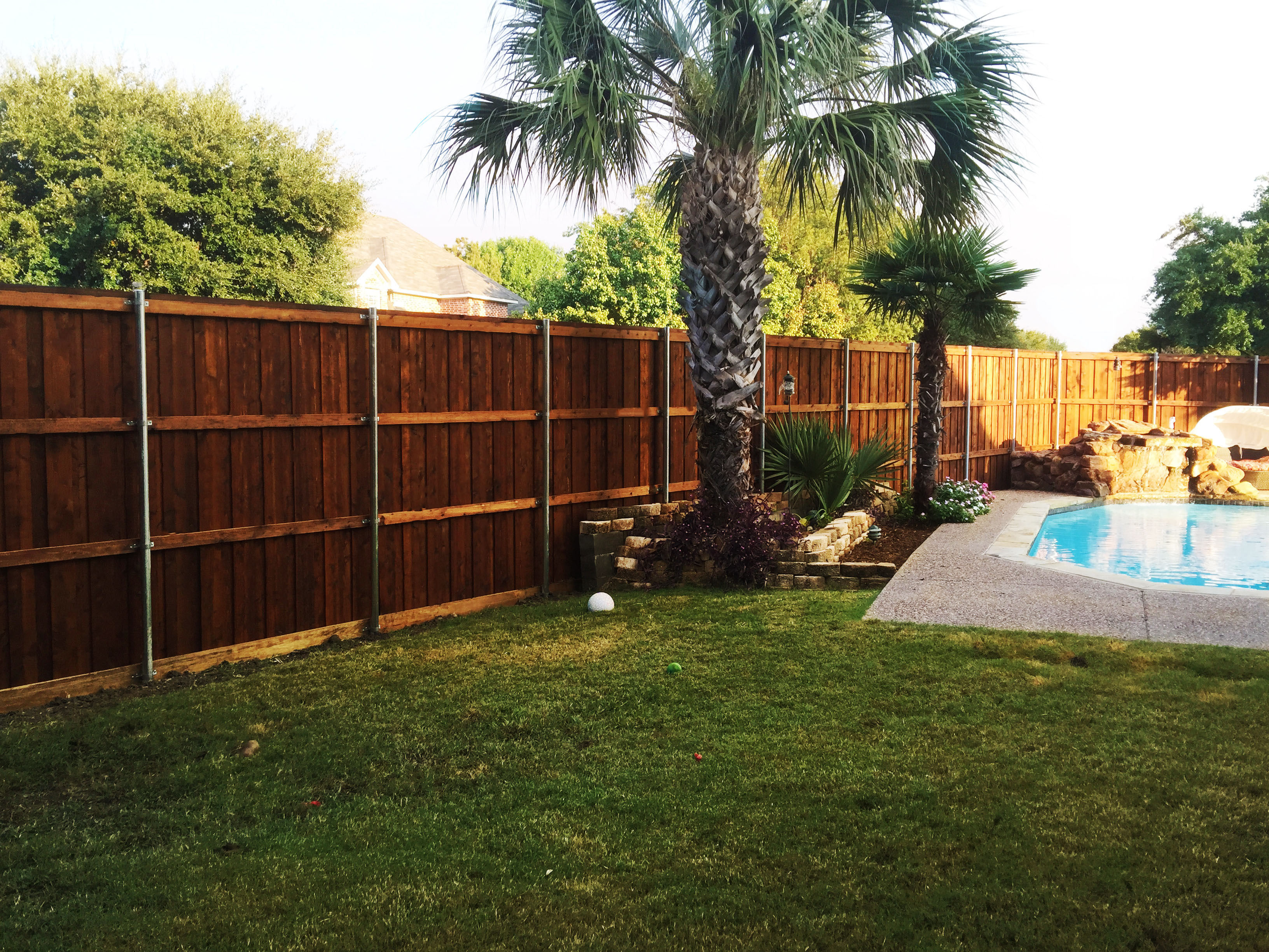 8 Ft Tall Board On Board Cedar Backyard Fence Fence Companies for Backyard Fence Company