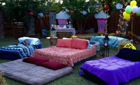 Air Mattresses For Movie Night Outside Outdoor Movie regarding Backyard Movie Ideas