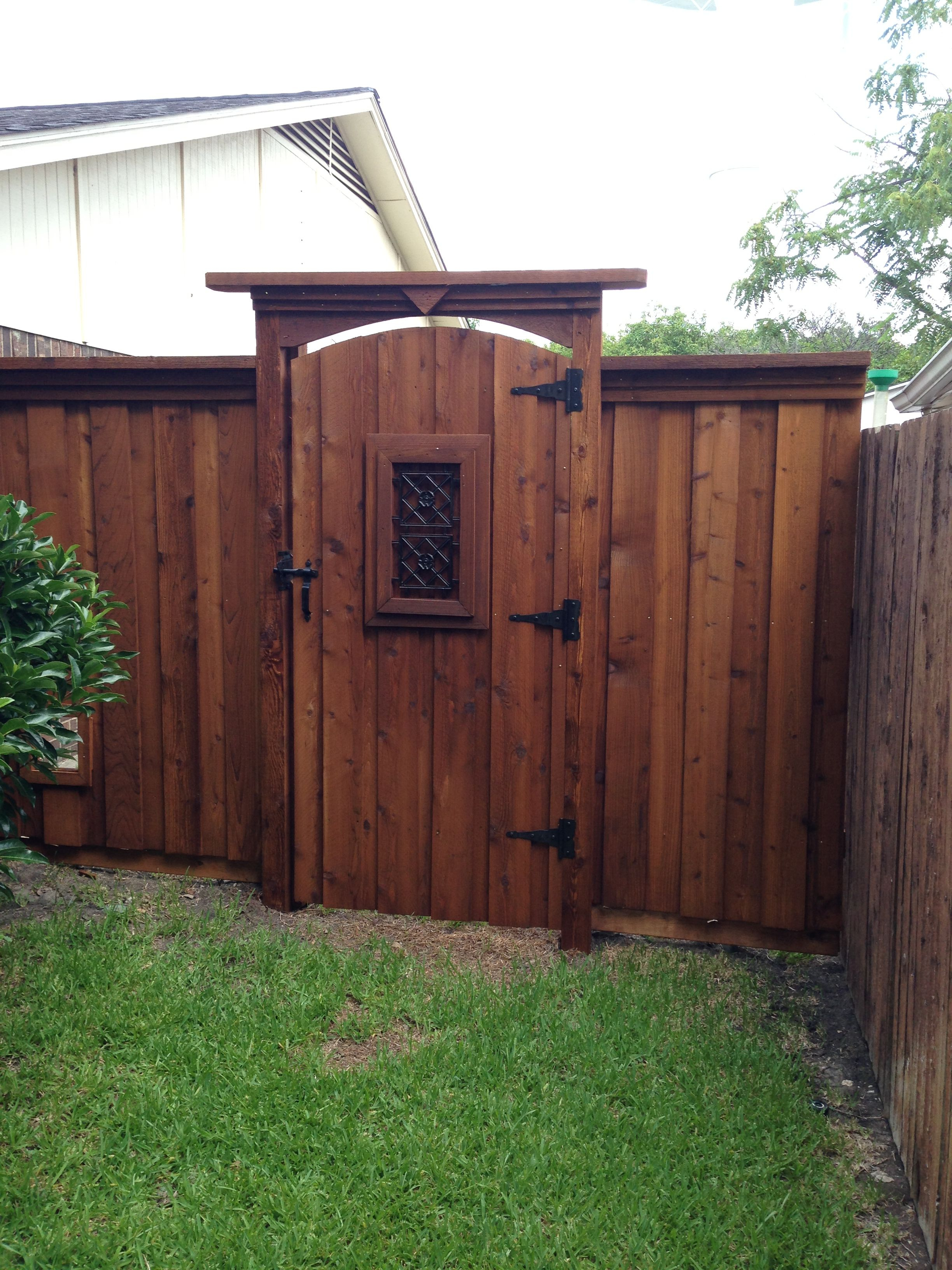 Arched Gate Tall Header Fences In 2019 Fence Gate with Backyard Fence Door