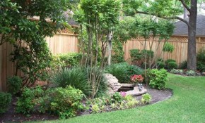 Backyard Landscaping With Trees And Shrubs Nice Backyard for Nice Backyard Ideas