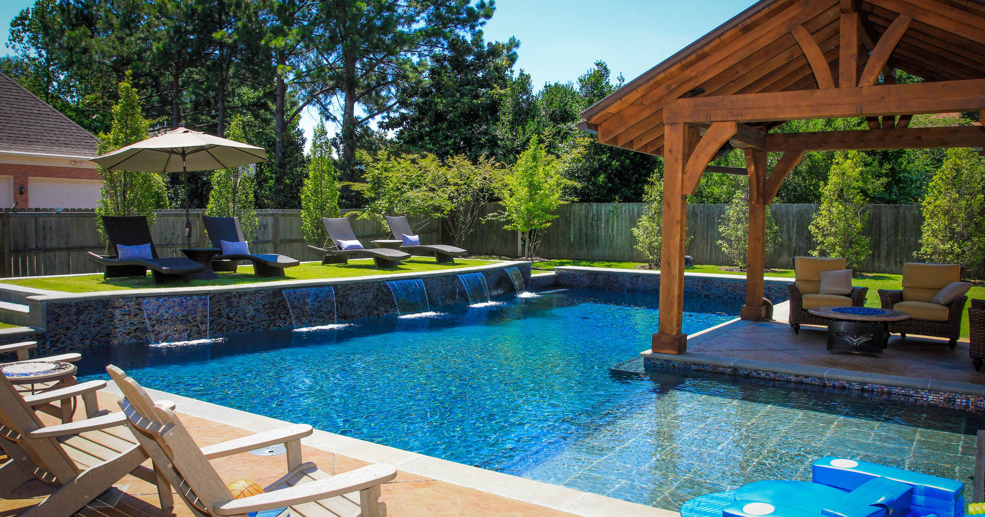 Backyard Living Trends For 2018 Cincinnati Pool And Patio with Backyard Pool Landscaping Pictures