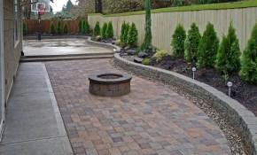 Backyard Paver Patio Connected To A Concrete Slab Basketball for 10 Smart Tricks of How to Build Backyard Paver Ideas