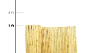 Backyard X Scapes Actual 8 Ft X 3 Ft Natural Bamboo with Backyard XScapes Rolled Bamboo Fencing