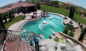 Big Backyard Pool Slides Backyard Design Ideas within Big Backyard Design Ideas
