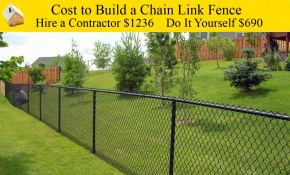 Cost To Build A Chain Link Fence pertaining to How Much Does A Backyard Fence Cost