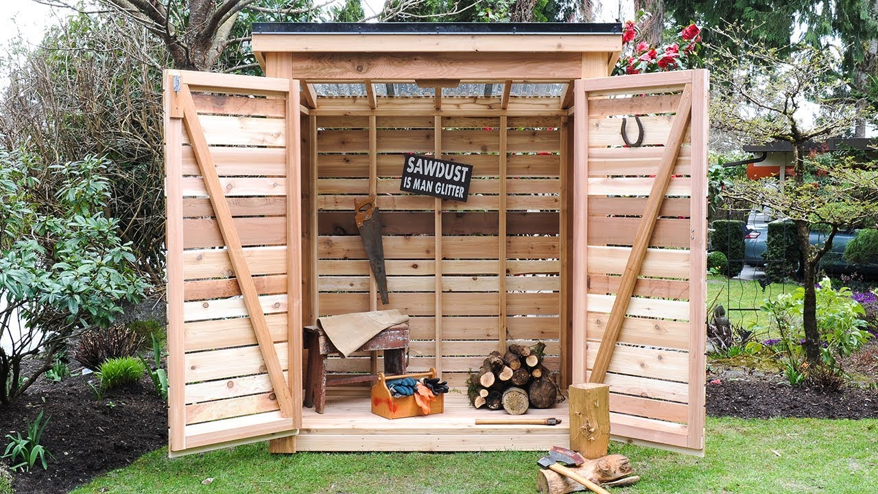 Diy How To Build A Cedar Shed Say Goode To Garage Backyard Clutter for 12 Smart Designs of How to Make Backyard Shed Ideas