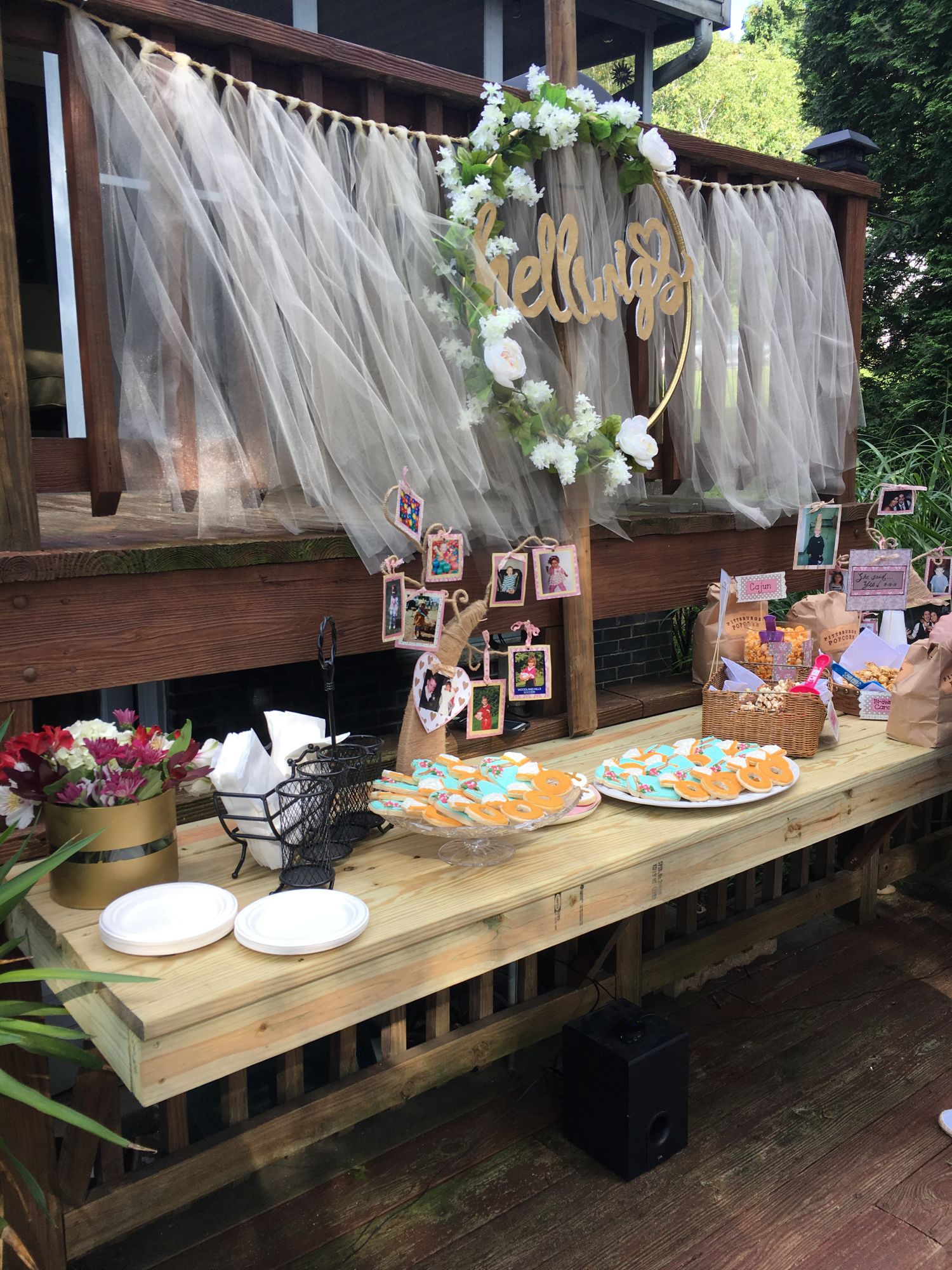 Easy Engagement Party Decorations I Do Bbq Backyard for Backyard Engagement Party Decorations