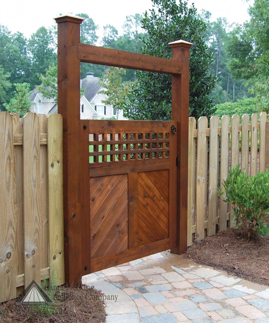 Fence Gates Designs Metal Backyard Gates For More Beauty inside Backyard Fence Door