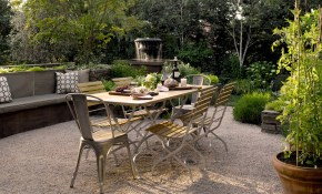 French Style Gravel Patio Gardens In 2019 Pea Gravel Patio regarding Gravel Backyard Ideas