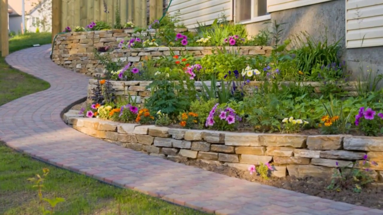Garden And Backyard Retaining Wall Ideas And Terraced Gardens with regard to 12 Clever Ideas How to Upgrade Backyard Retaining Wall Ideas