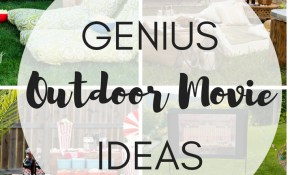 Genius Outdoor Movie Ideas The Girl Creative regarding 12 Clever Tricks of How to Improve Backyard Movie Ideas