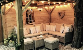 Homemade Wooden Gazebo Cobbles Garden Lights Outdoor Sofa for 13 Awesome Concepts of How to Build Gazebo Ideas For Backyard