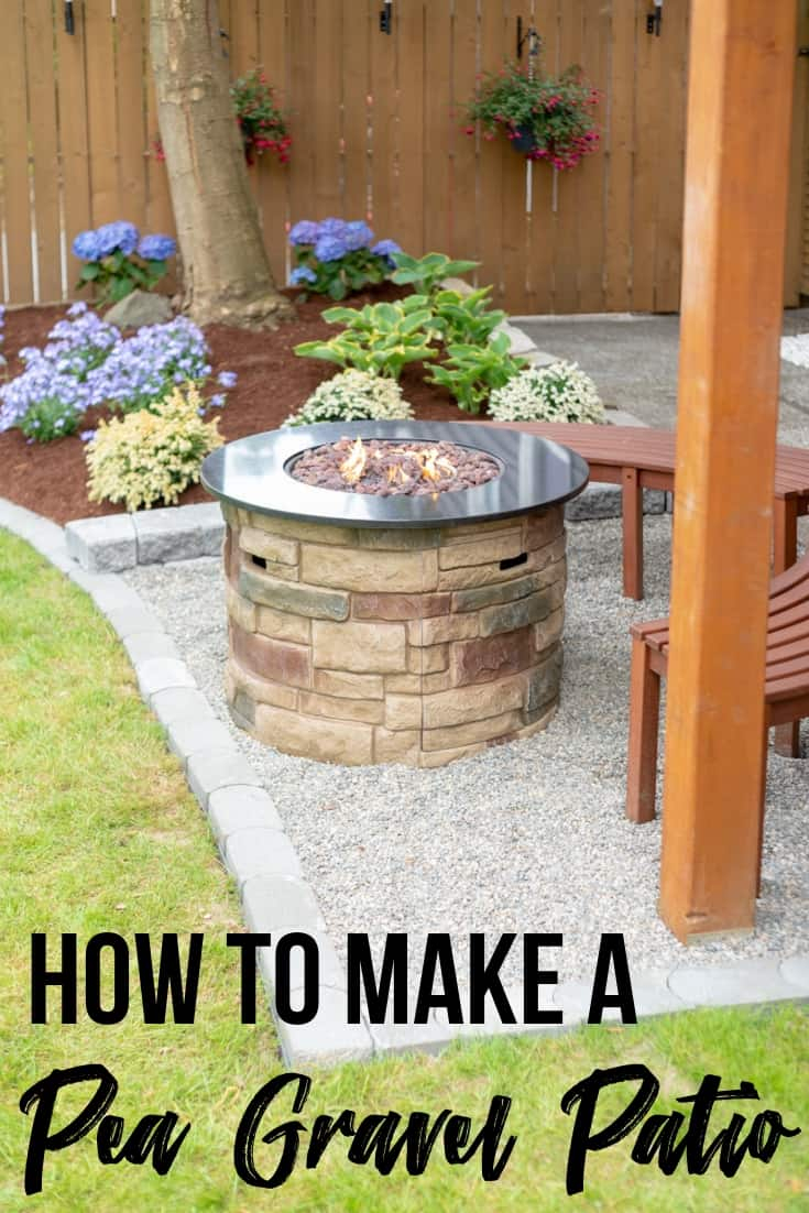 How To Make A Pea Gravel Patio In A Weekend The Handymans for Backyard Gravel Ideas
