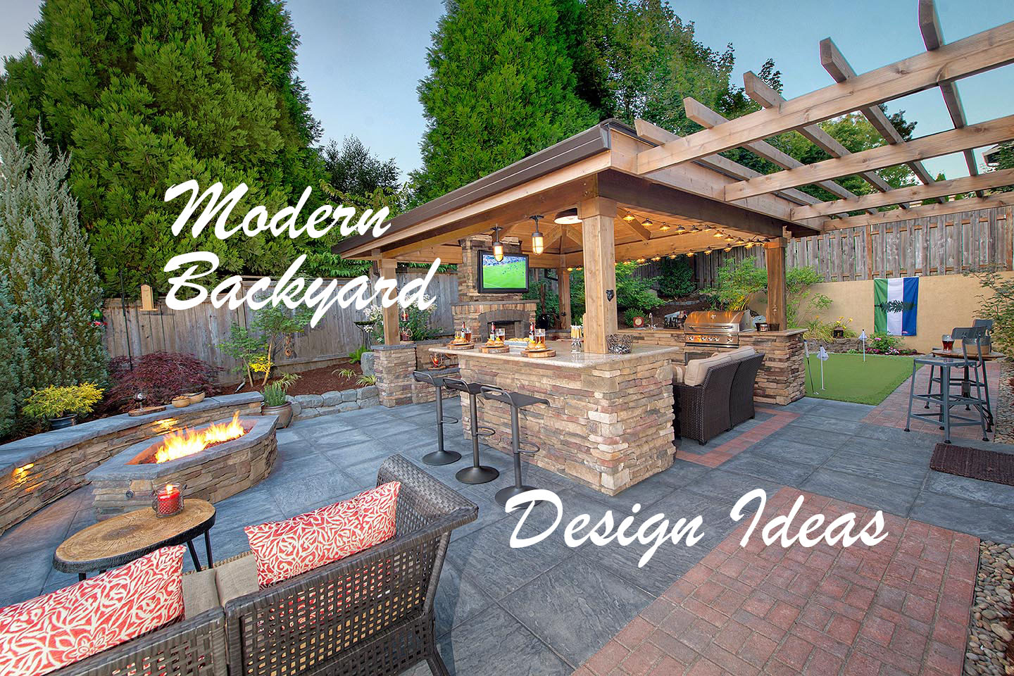 Modern Backyard Design Ideas Paradise Restored Landscaping with 15 Awesome Concepts of How to Make Modern Backyard Design Ideas