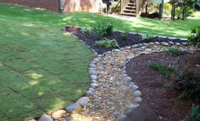 Natural Drainage Ditch Landscaping Ideas Randolph Indoor inside Backyard Drainage Ideas