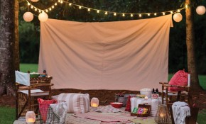 Pin Caitlin Woods On Theos First Birthday Backyard within 12 Genius Concepts of How to Craft Backyard Movie Night Ideas