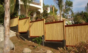 Rolled Bamboo Fencing for 13 Clever Initiatives of How to Improve Backyard XScapes Rolled Bamboo Fencing