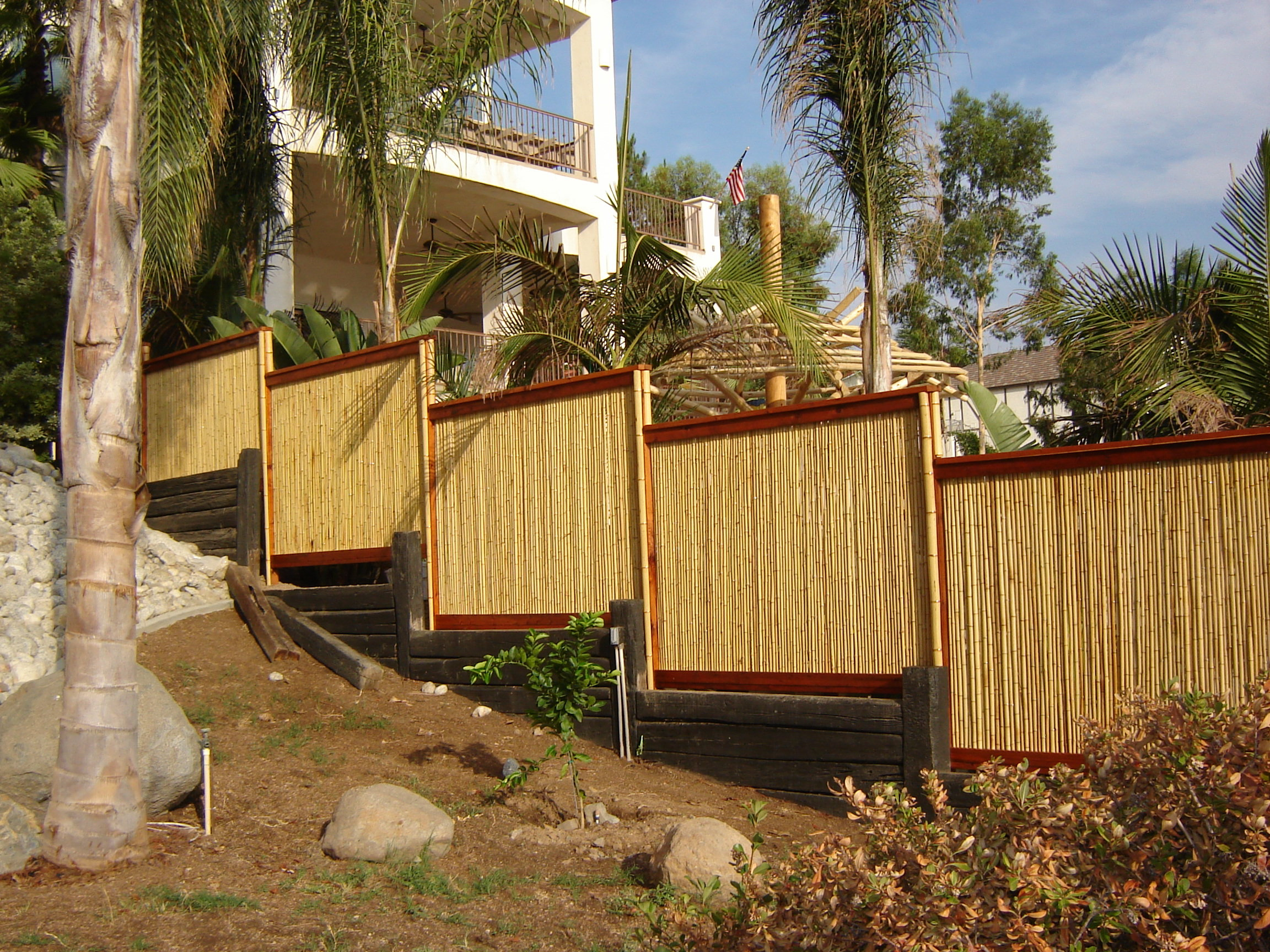 Rolled Bamboo Fencing inside 10 Smart Ways How to Make Backyard X Scapes Reed Fencing