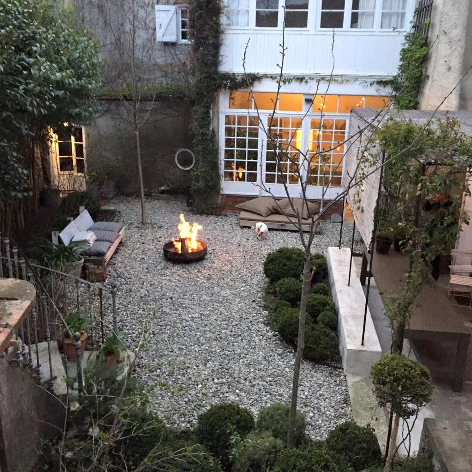 Small Space With Gravel Fire Pit The New French Landscape for 14 Genius Ideas How to Make Gravel Backyard Ideas