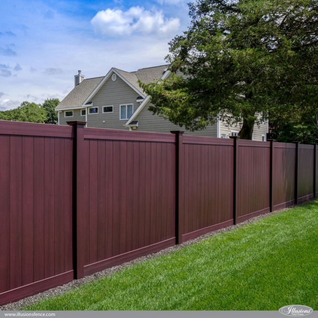 Vinyl Fence Panels Brown Home Inspirations Fancy Garden throughout 10 Clever Initiatives of How to Make Backyard Vinyl Fence