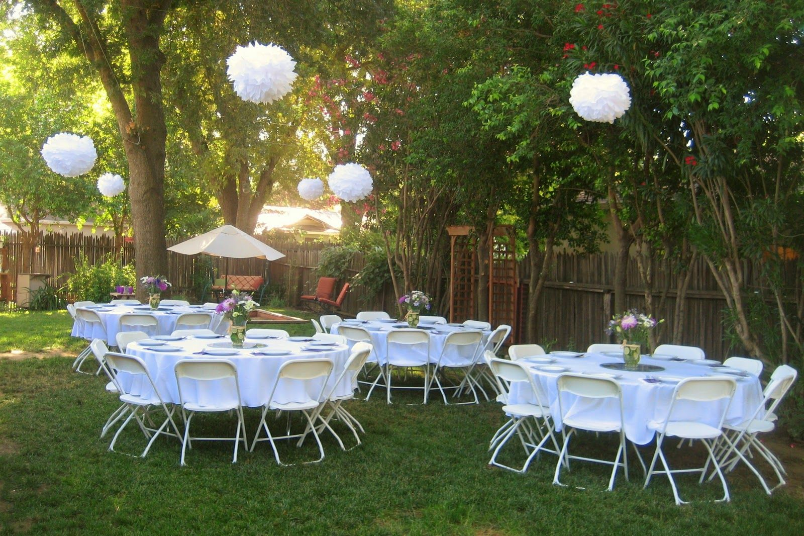 White Puff Ballsthe Tissue Paper Kind Great Way To Decorate A intended for 14 Some of the Coolest Designs of How to Improve Backyard Bridal Shower Ideas