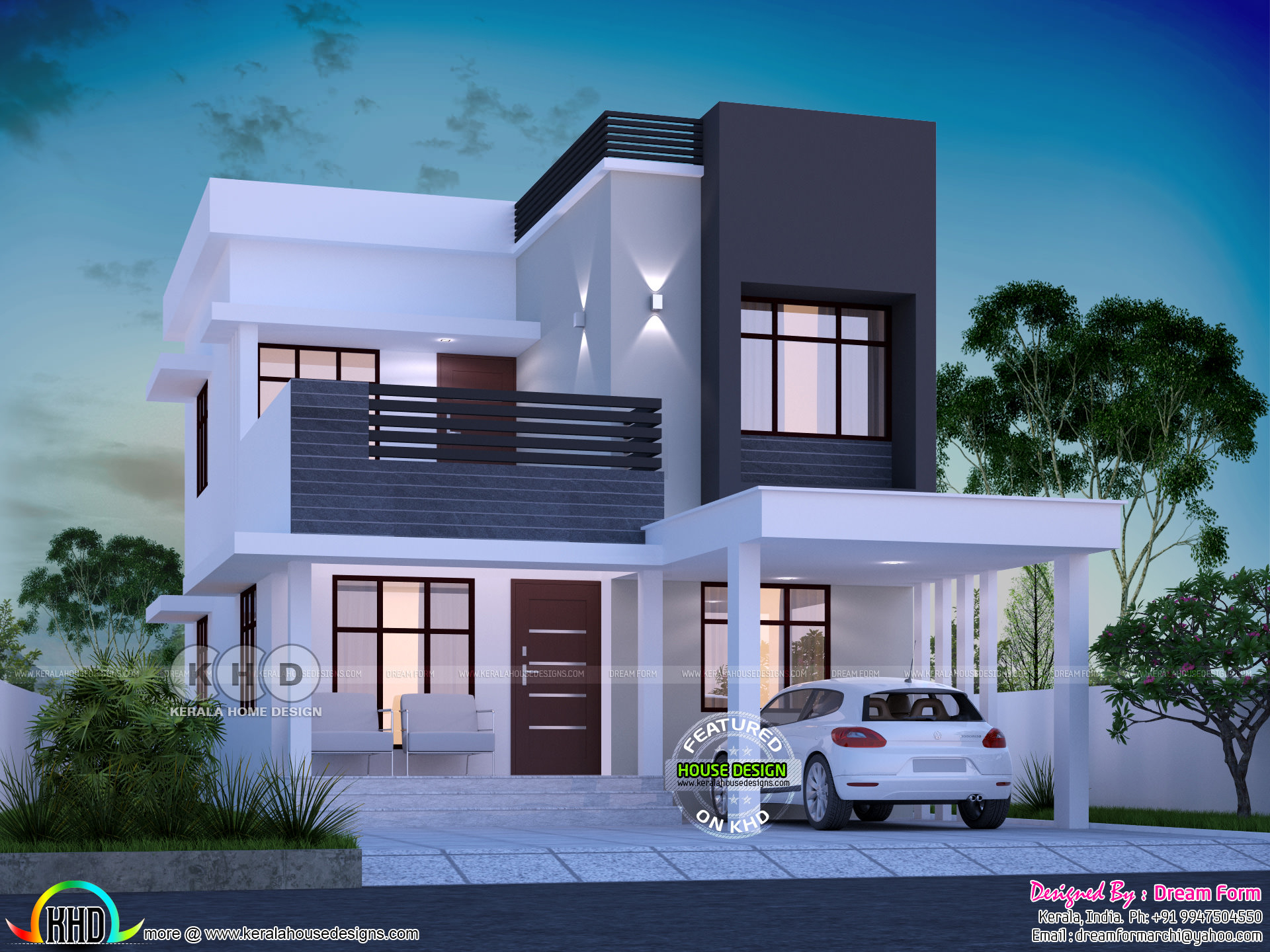 1645 Square Feet 3 Bedroom Modern House Plan Kerala Home with 11 Smart Concepts of How to Upgrade Modern 3 Bedroom House Plans