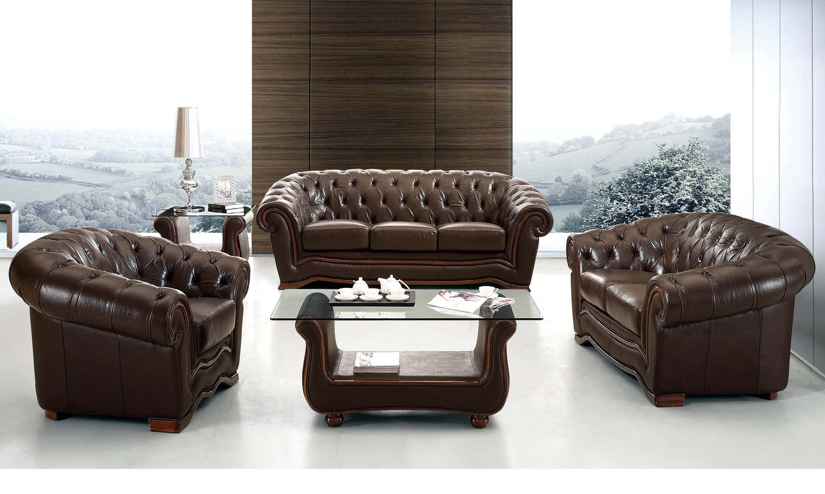 262 Leather Living Room Furniture Sofa Set Esf intended for 11 Clever Ideas How to Makeover Full Living Room Sets