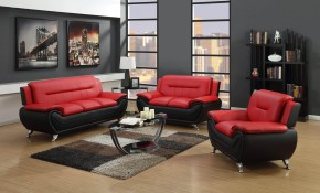 2705 Redblack Living Room Set pertaining to Black And Red Living Room Set