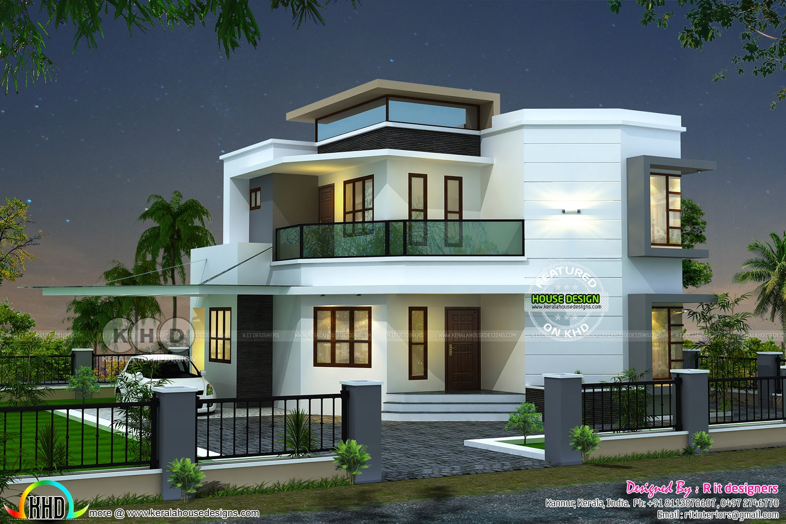3 Bedroom Modern House Plan Kerala Home Design And Floor Plans intended for 15 Genius Ideas How to Upgrade 3 Bedroom Modern House Design