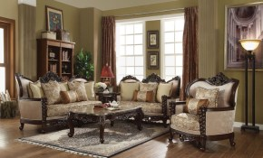 Acme Devayne 3pc Livingroom Set Dark Walnut regarding 13 Clever Designs of How to Makeover French Provincial Living Room Set