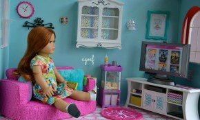 American Girl Doll Living Room Tour Baci Living Room with regard to 18 Inch Doll Living Room Set
