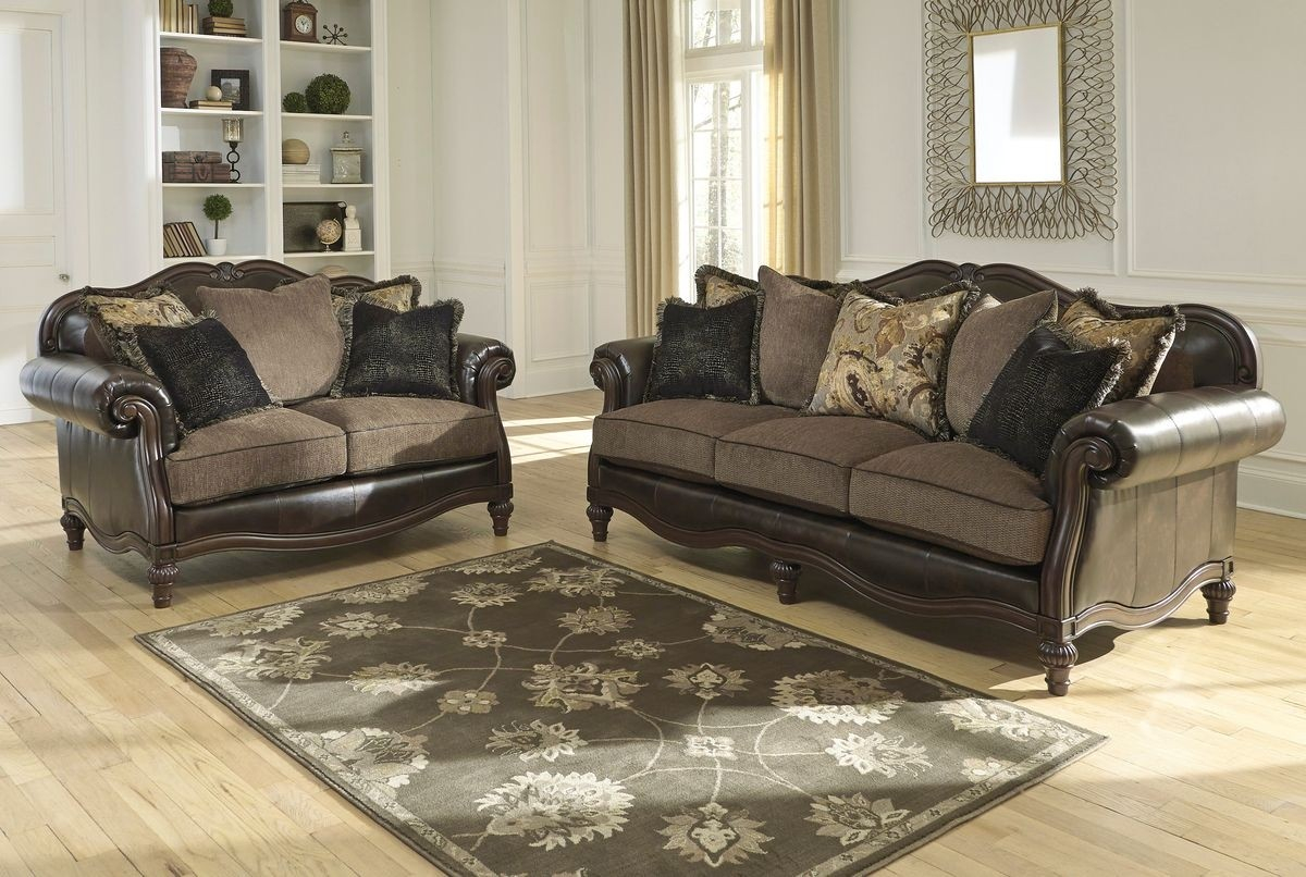 Ashley Furniture Winnsboro Living Room Set In Vintage pertaining to Shop Living Room Sets