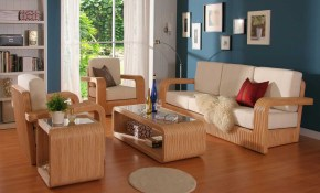 Beautiful Wood Living Room Furniture With White Foam For with Wood Living Room Set