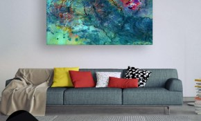 Canvas Painting Modern Abstract Art Wall Painting For Living Room Bedroom Office Hotels Drawing Room 91cm X 61cm in 12 Awesome Tricks of How to Craft Modern Art For Bedroom