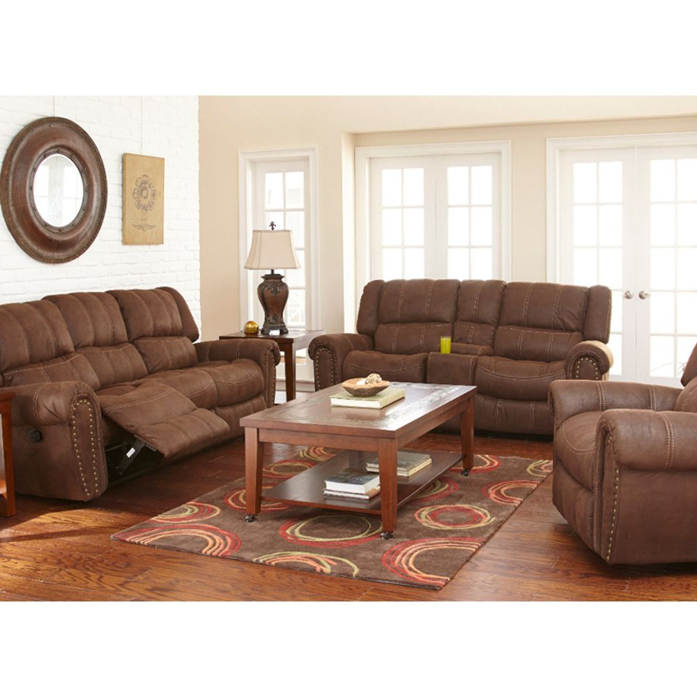 Carrera Living Room Reclining Sofa Loveseat Xw950 with Conns Living Room Sets