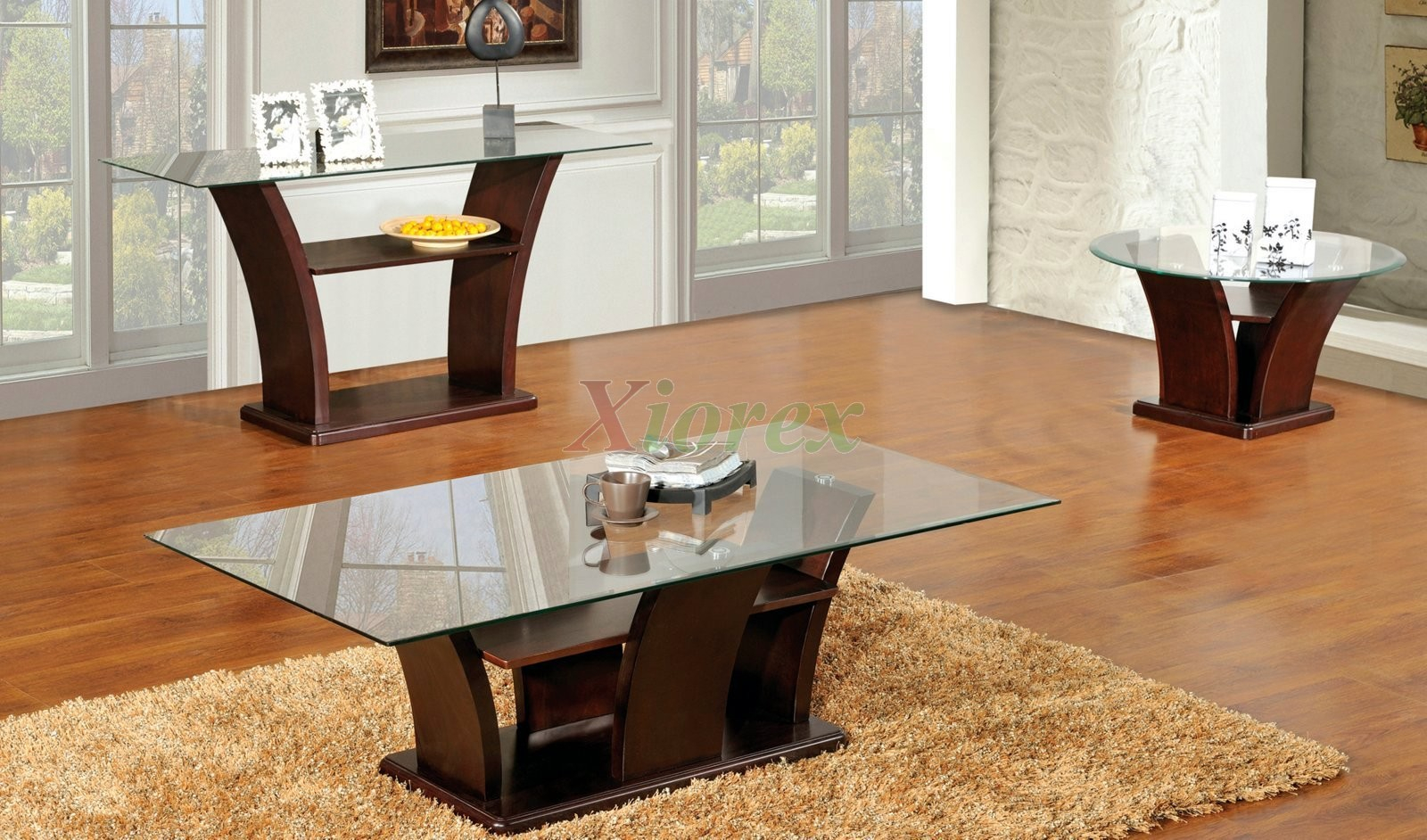 Columba 3 Piece Coffee Table Set With Sofa Console Table pertaining to Living Room Tables Sets