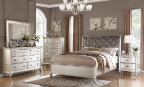 Details About 6pc Zurich Modern Transitional Metallic Silver Wood Queen King Bedroom Set inside Modern Bedroom Set King