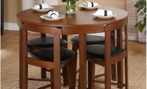 Details About Dining Room Sets For Small Family Round Table 4 Chairs Kitchen Meal Space Saver regarding 14 Smart Ways How to Upgrade Living Room Sets For Small Spaces
