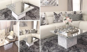 Diy Living Room Mirror Table Set Using Dollar Tree Mirrors To Make Furniture within Living Room Tables Sets