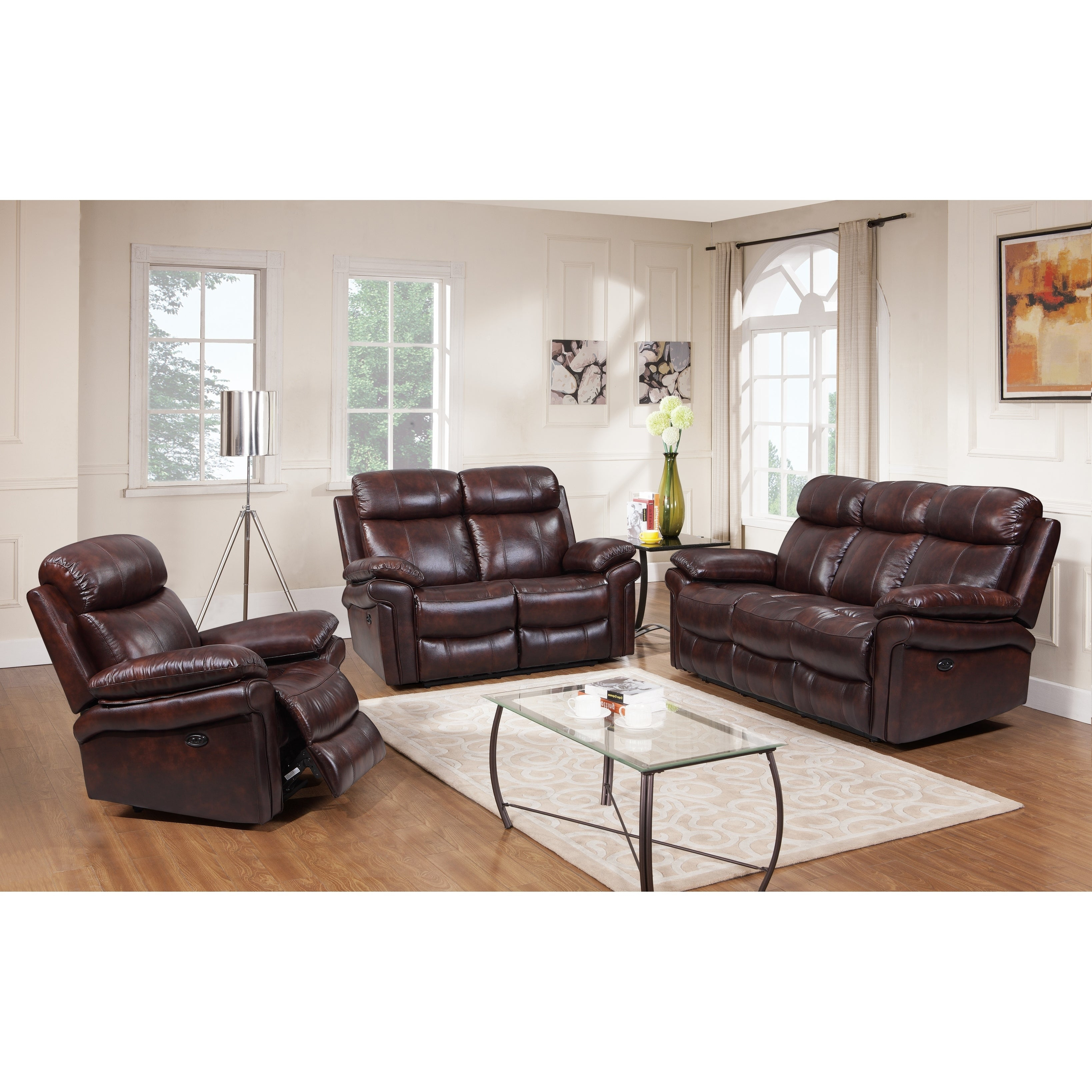 Hudson Top Grain Leather Power Reclining Living Room Set Brown Blue Red with regard to 13 Awesome Designs of How to Improve Power Reclining Living Room Set