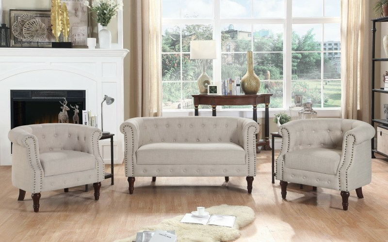 Kelty 3 Piece Living Room Set regarding Chair Set For Living Room