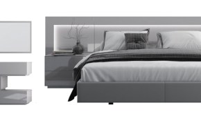 Levanto Modern Bedroom Set With Lighting with regard to White Modern Bedroom Set