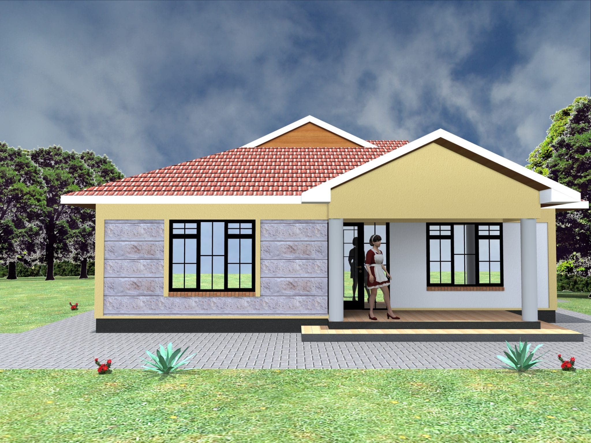 Low Budget Modern 3 Bedroom House Design Hpd Consult in 15 Genius Ideas How to Upgrade 3 Bedroom Modern House Design