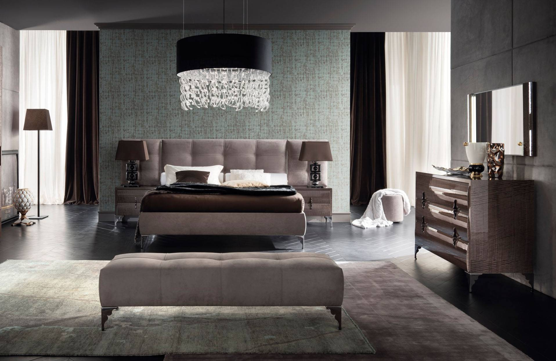 Made In Italy Leather Contemporary Master Bedroom Designs with Italian Modern Bedroom Sets