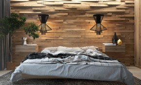 Modern Design Wooden Wall In The Interior Of The Bedroom Creating An Eco Style throughout 15 Awesome Ideas How to Makeover Modern Decor For Bedrooms