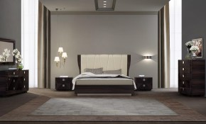 Modern Italian Bedroom Set In Beige Me01 571 throughout Italian Modern Bedroom Sets