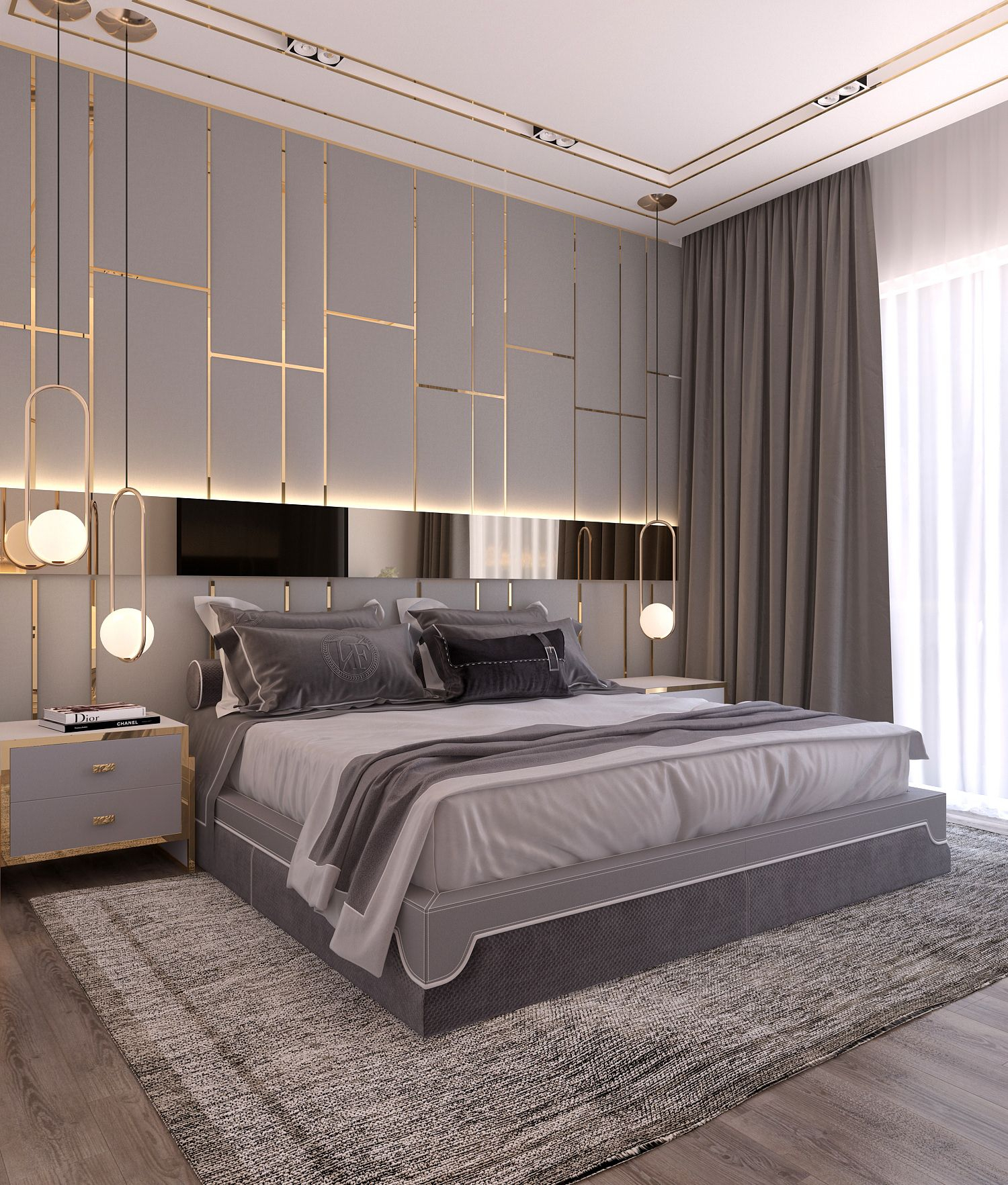 Modern Style Bedroom Dubai Project On Behance Bedrooms In intended for Modern Design Bedroom
