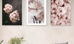 Romantic Modern Pink Rose Flowers Canvas Paintings Posters For Bedroom Home Decor Valentines Gift Wall Art Picture with regard to Modern Wall Art For Bedroom
